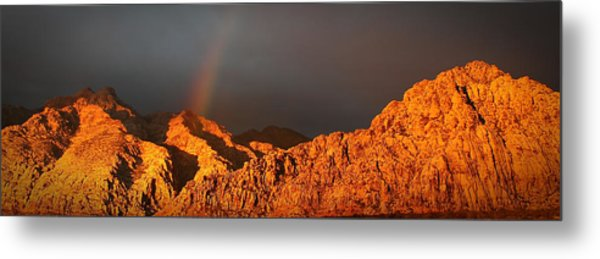 Calico Rainbow Metal Print