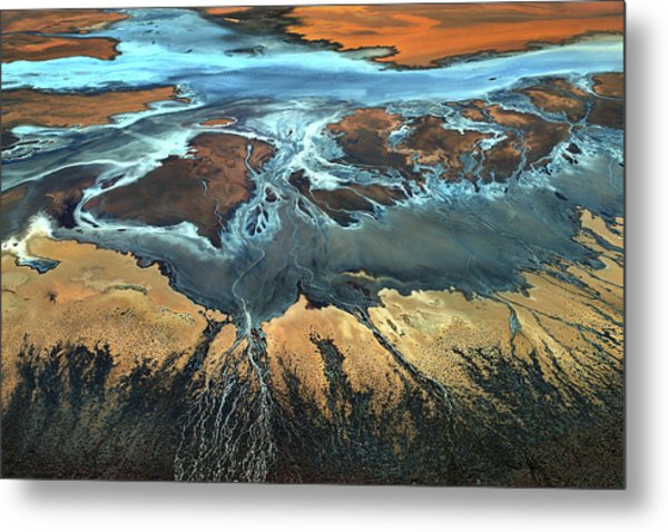 California Aerial - The Desert From Above Metal Print