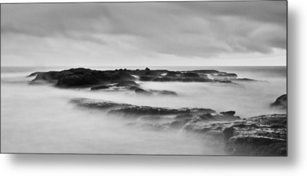 California Coast Long Exposure In The Morning Metal Print by Andrew Raby