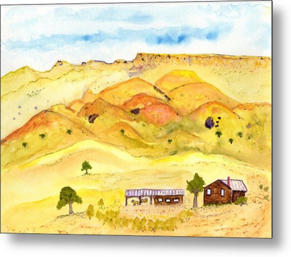 California Foothill Homestead Metal Print