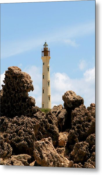 California Lighthouse Aruba Metal Print
