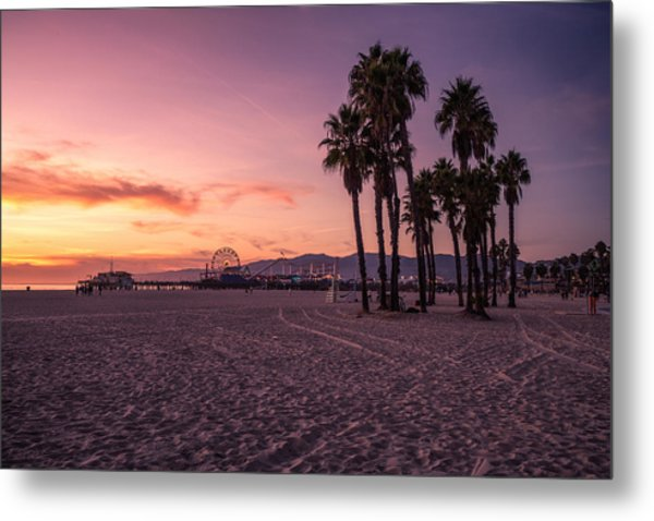 California Sunset At The Beach Metal Print by Dennis Fischer Photography