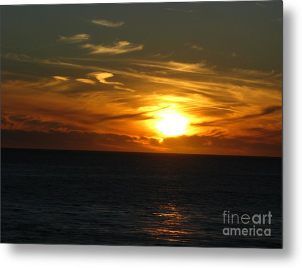 California Winter Sunset Metal Print