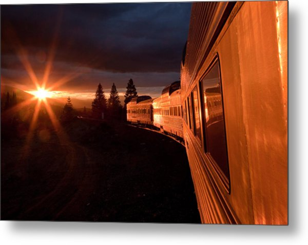 California Zephyr Sunset Metal Print