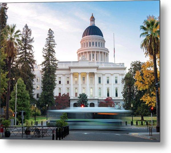 Californias Capital Metal Print by Janet Kopper