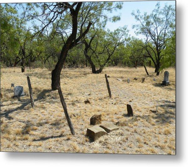 Callahan City Cemetery Unmarked Pioneer Graves Metal Print