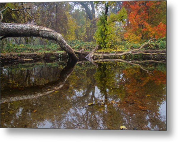 Calm On Big Chico Creek Metal Print