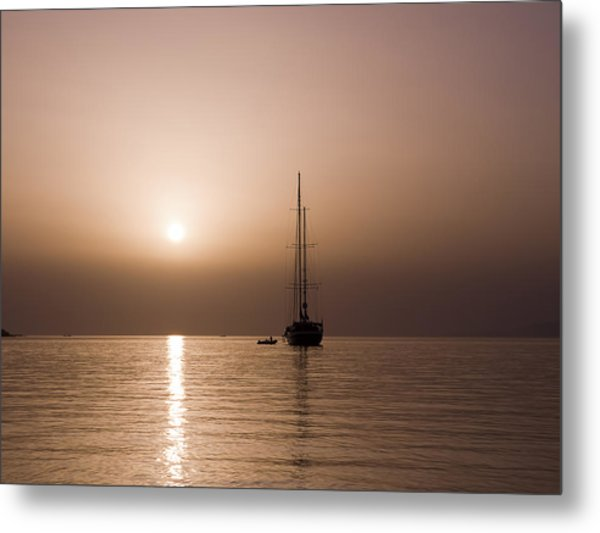 Calm Sea And Quiet Voyage Metal Print