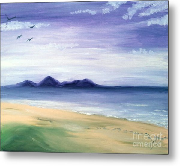 Calm Seashore Metal Print