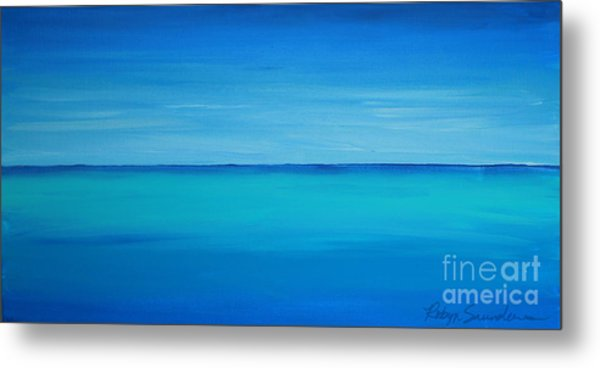 Calming Turquise Sea Part 1 Of 2 Metal Print