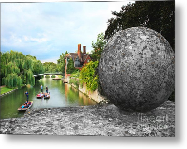 Punting In Cambridge Metal Print