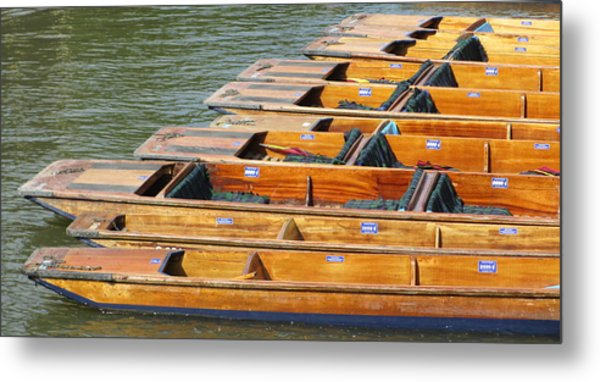 Cambridge Punts Metal Print by Donald Turner