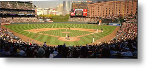 Camden Yards Baseball Game Baltimore Metal Print