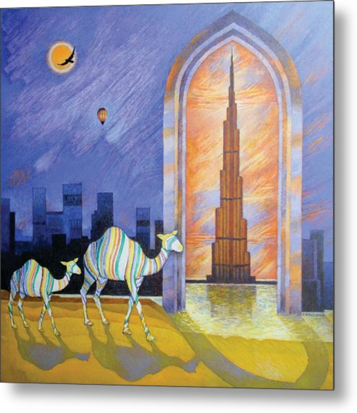 Camels In The Wonderland  Metal Print