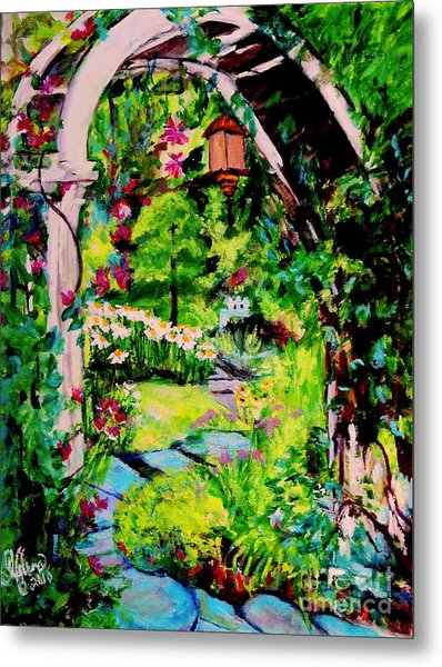Camille's Secret Cottage Garden  Metal Print