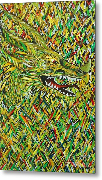 Camo Dragon Metal Print by Michael Henzel