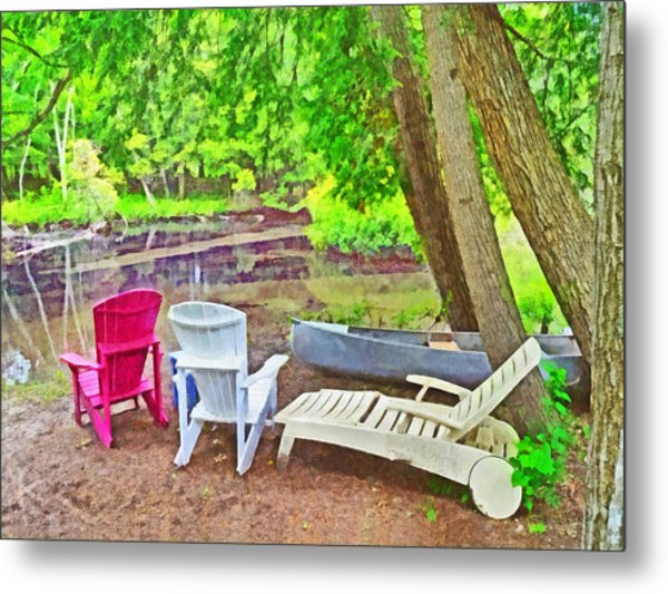 Camping On The Crystal River Metal Print