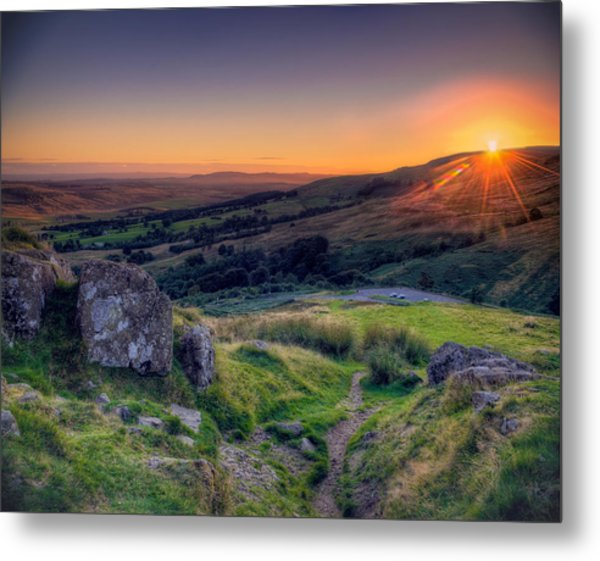 Campsies Sunset In Scotland Metal Print