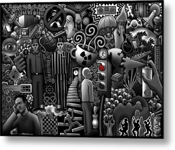 Can 'o' Worms Metal Print