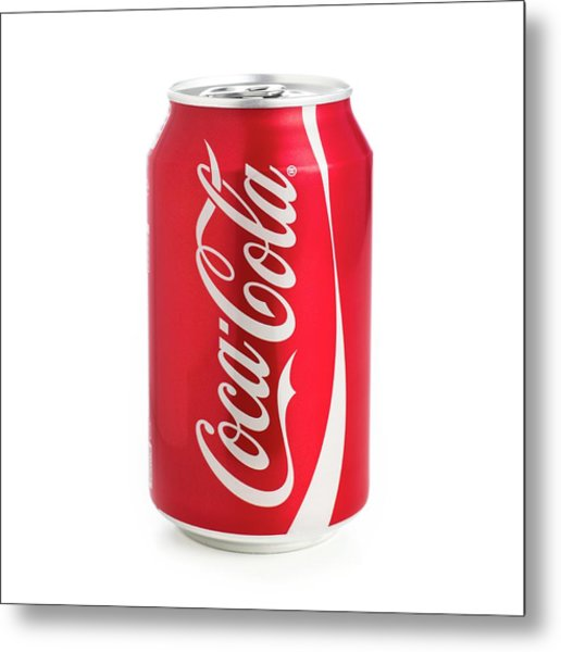 Can Of Coca Cola Metal Print by Science Photo Library