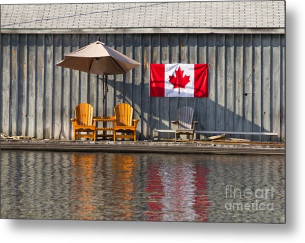 Canada Day In Muskoka Metal Print
