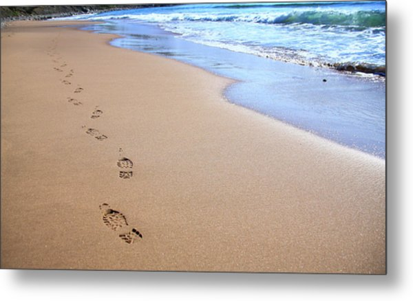 Canada, Nova Scotia, Footprints Metal Print