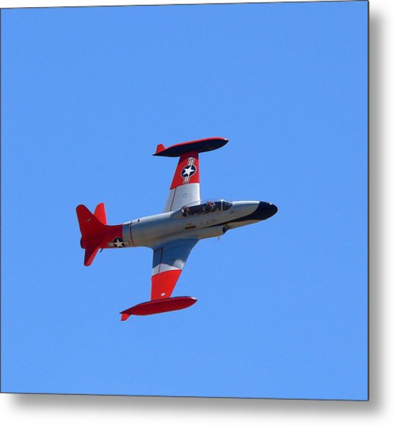Metal Print featuring the photograph Canadair Shooting Star Ct133 by Jeff Lowe