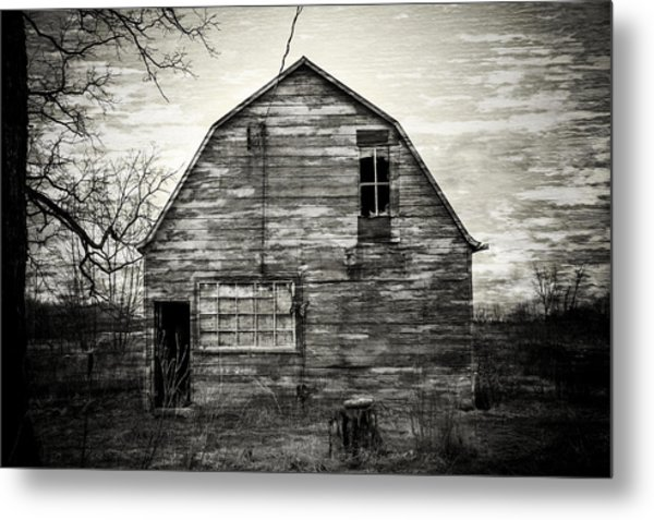 Canadian Barn Metal Print
