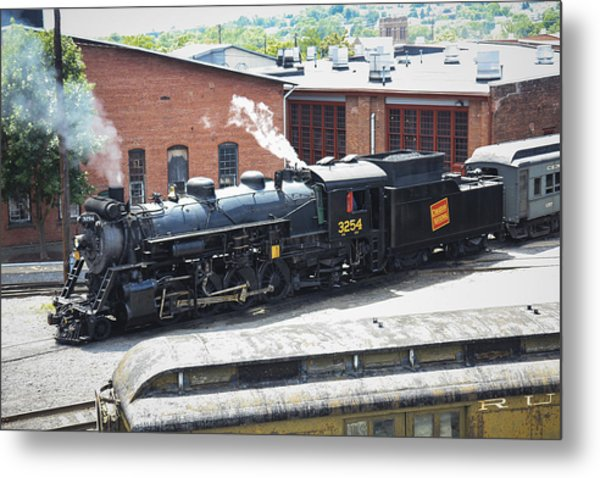 Canadian National Steam Locomotive Metal Print