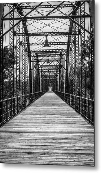 Canadian River Bridge Metal Print