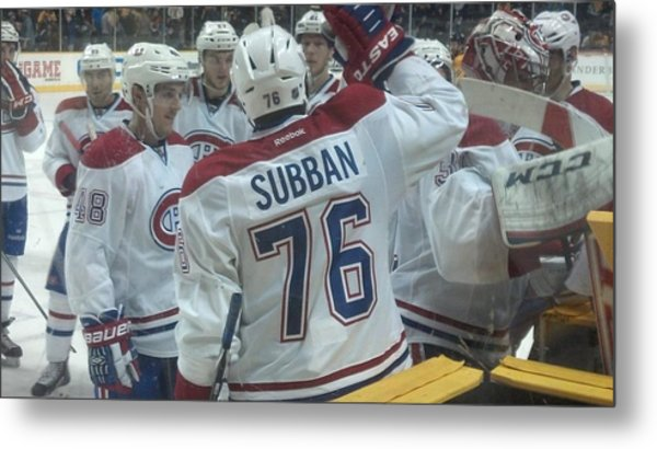 Canadiens Win Metal Print