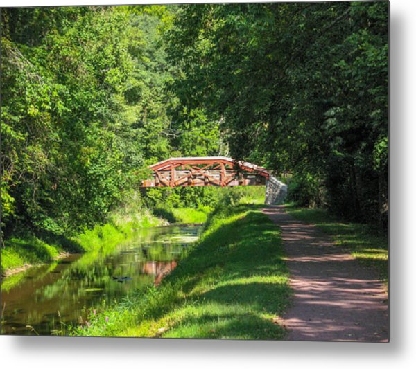 Canal Bridge Metal Print