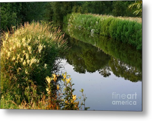 Canal Reflections Metal Print