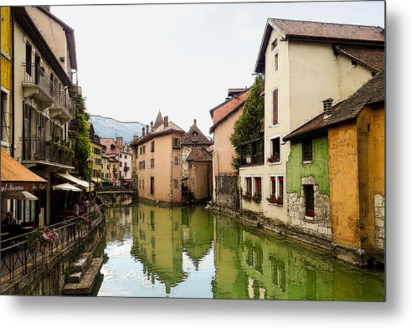 Canal View Number 1 Annecy France Metal Print
