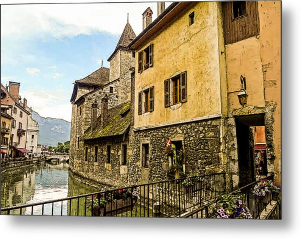 Canal View Number 2 Annecy France Metal Print