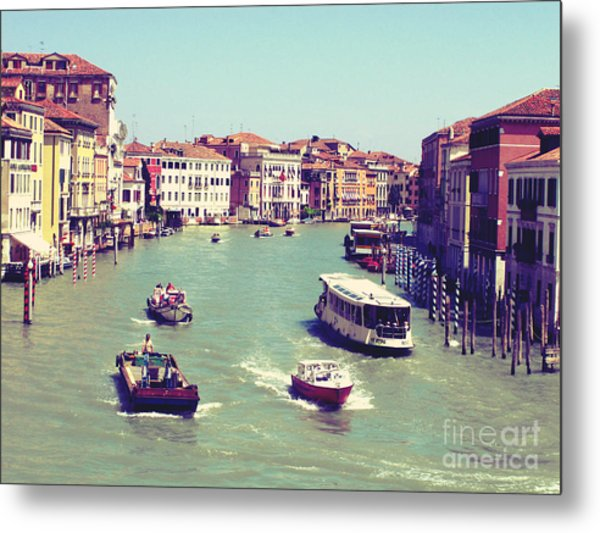 Canale Grande Venice Italy Metal Print by Ernst Cerjak