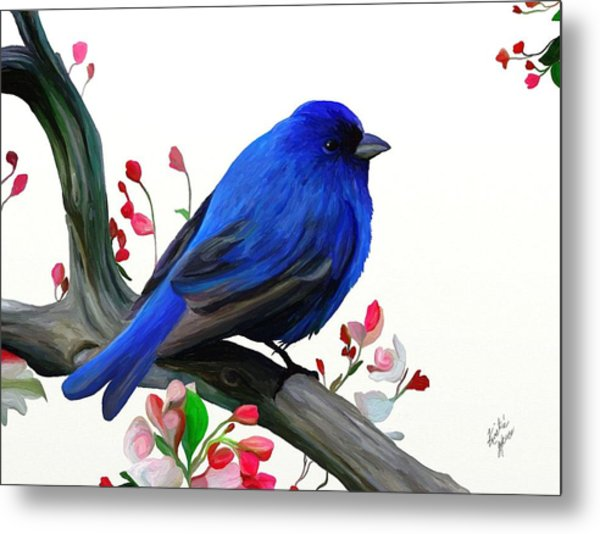 Canary Blue Morning Metal Print