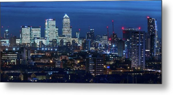 Canary Wharf And Stratford Metal Print by Kenny Mccartney