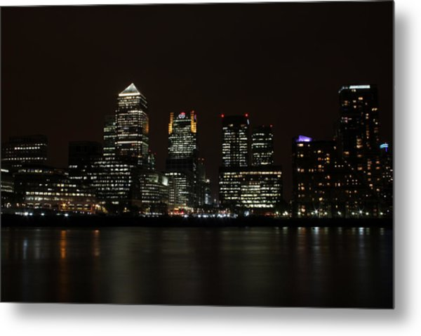 Canary Wharf Skyline Metal Print by Dan Davidson