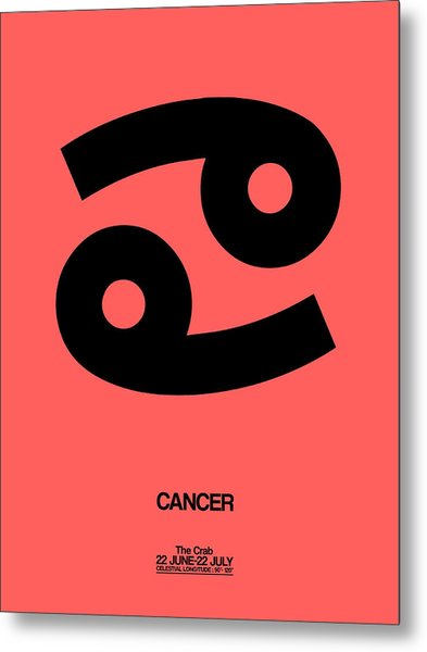 Cancer Zodiac Sign Black Metal Print