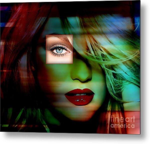 Candice Swanepoel Painting Metal Print