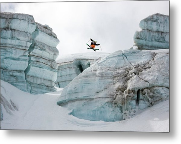 Candide Thovex Out Of Nowhere Into Nowhere Metal Print