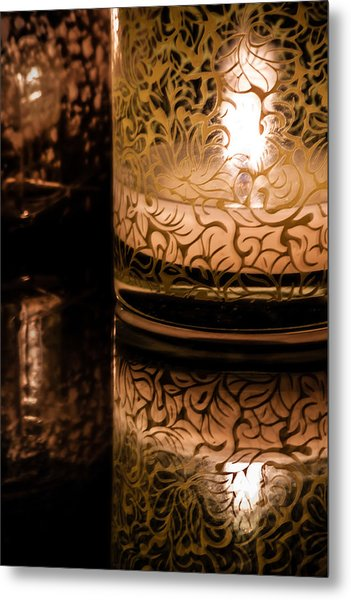 Candle Reflections Metal Print