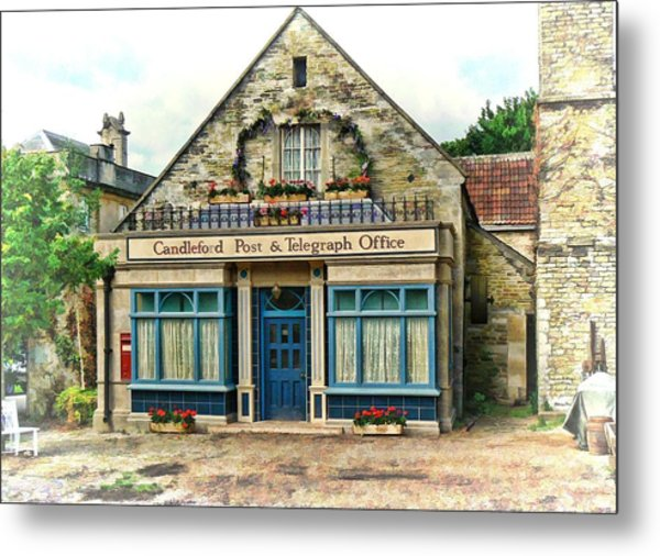 Candleford Post Office Metal Print