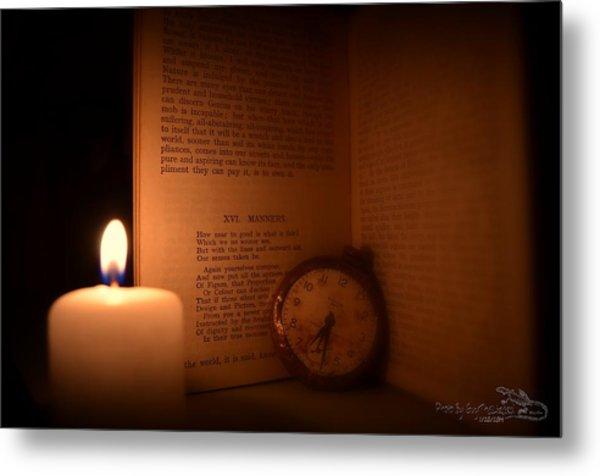 Candlelight Read Metal Print
