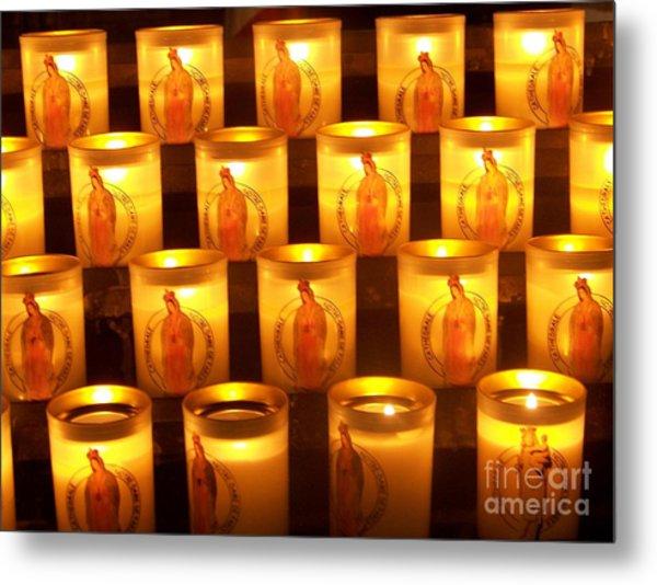 Candlelights - Bougies Notre Dame De Paris - Paris - France Metal Print by Francoise Leandre