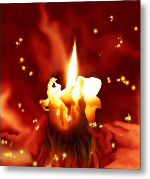 Candletown Metal Print