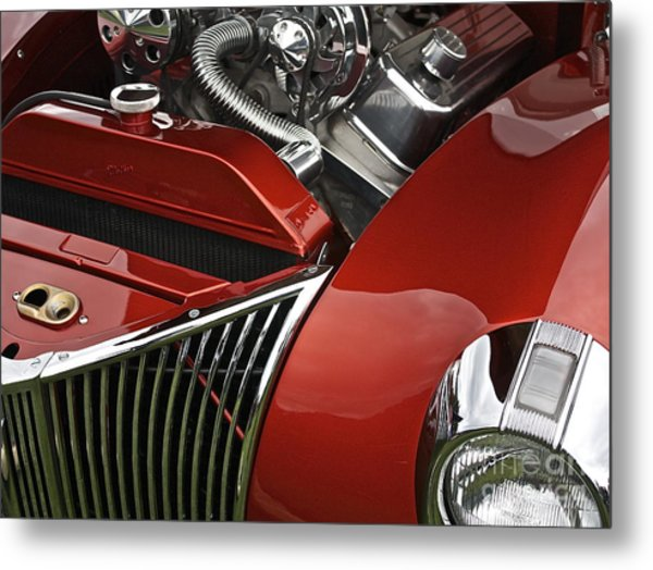 Candy Apple Red And Chrome Metal Print