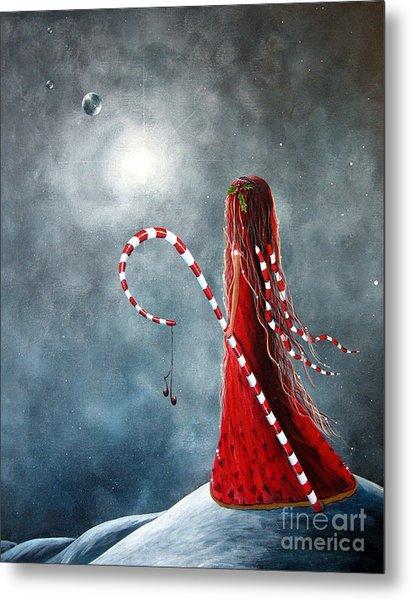 Candy Cane Fairy By Shawna Erback Metal Print by Erback Art