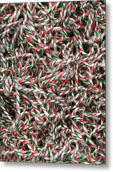 Candy Canes Metal Print
